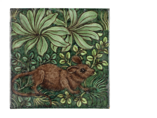 William De Morgan Mouse tile