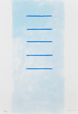 William Scott R.A. (British, 1913-1989) Five on the rectangle (From a Poem for Alexander) Screenprint in colours, 1972, on wove, signed, dated and numbered 34/72 in pencil, published by Leslie Waddington Graphics, London, printed by Kelpra Studios, London, 521 x 387 cm (20 1/2 x 15 1/4in)(SH)
