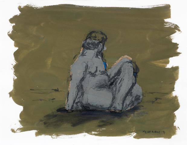 William Joseph Kentridge (South African, born 1955) Seated female nude (image size)