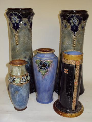 A small collection of Royal Doulton vases