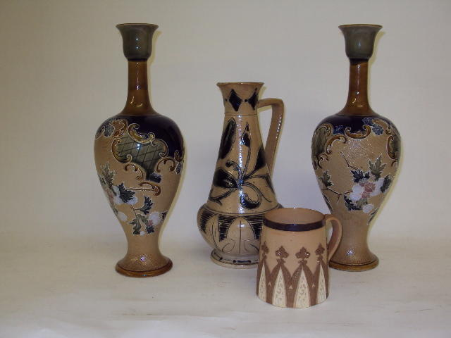A small collection of Doulton Lambeth wares