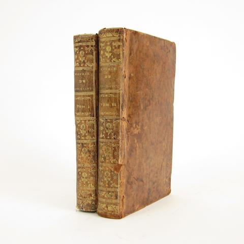 BOUGAINVILLE (LOUIS ANTOINE DE)] Voyage autour du monde, par la frégate du roi La Boudeuse et la flûte l'Étoile en 1766, 1767, 1768 & 1769, 2 vol.