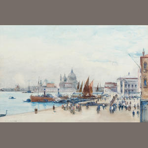 Charles James Lauder, RSW (British, 1840-1920) Venice from near St Marks