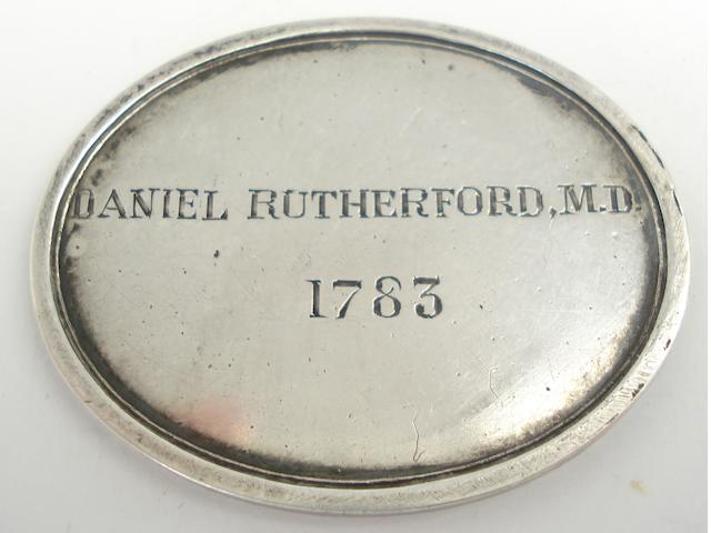 A silver membership ticket for the Royal Society,