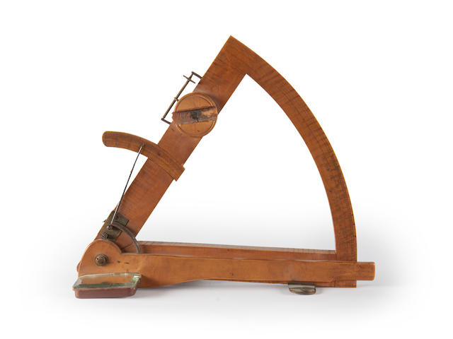 An unusual home made 9.5in. (24cm) radius sextant,
