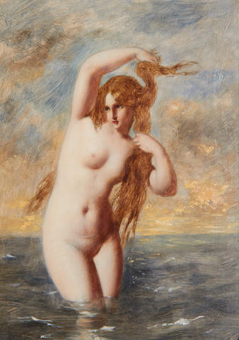 William Edward Frost (British, 1810-1877) A siren