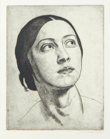 Dame Laura Knight R.A., R.W.S. (British, 1877-1970) Madonna Etching, 1923, on laid, signed in pencil, with margins, 175 x 135mm (6 7/8 x 5 3/8in)(PL)