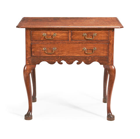 A George II oak lowboy