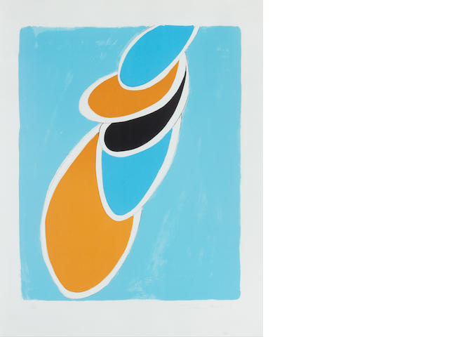 Sir Terry Frost R.A. (British, 1915-2003) Ice Blue Lithograph, 1972, on BFK Rives wove paper, signed, dated and numbered 31/65 in pencil, published by Leslie Waddington Prints, London, printed by Emil Matthieu Atelier, Zurich, 654 x 517 mm (25 3/4 x 20 1/4in)(I)