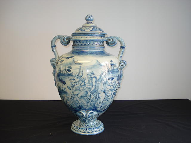 A 19th Century large baluster vase
