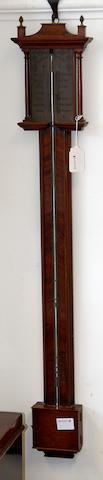 A mahogany stick barometer  19th century