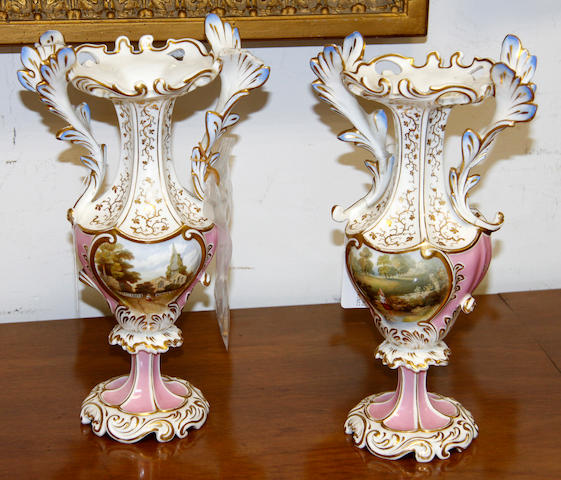 A pair of Grainger Worcester vases,