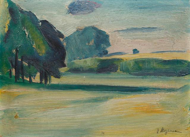Heinrich Stegemann (German, 1888-1945) A rural landscape
