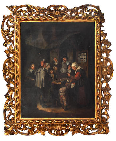 After Frans Van Meiris figures at a table