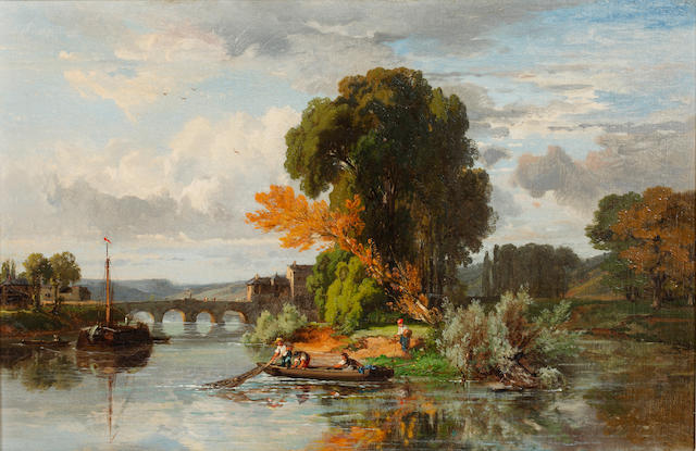 Dominique Grenet (French, 1821-1885) River landscape