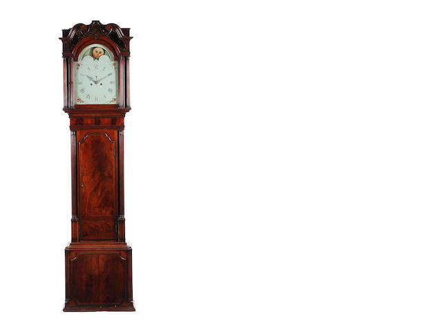 A 19th century mahogany 8 day longcase clock Indistinctly signed
