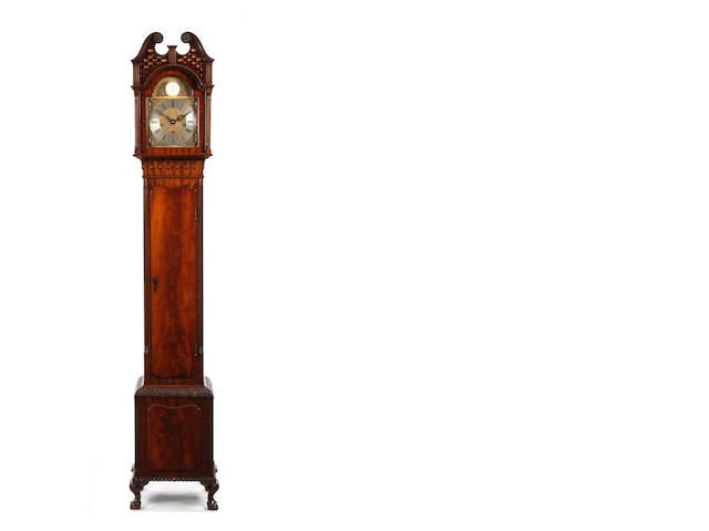 A 20th century mahogany musical longcase clock with Westminster chime Armstrong, Manchester