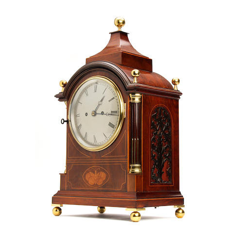 A fine 19th Century inlaid mahogany bracket clock Anonymous