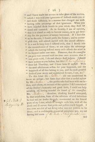 PAYNE (JOHN)] A Case, 1756