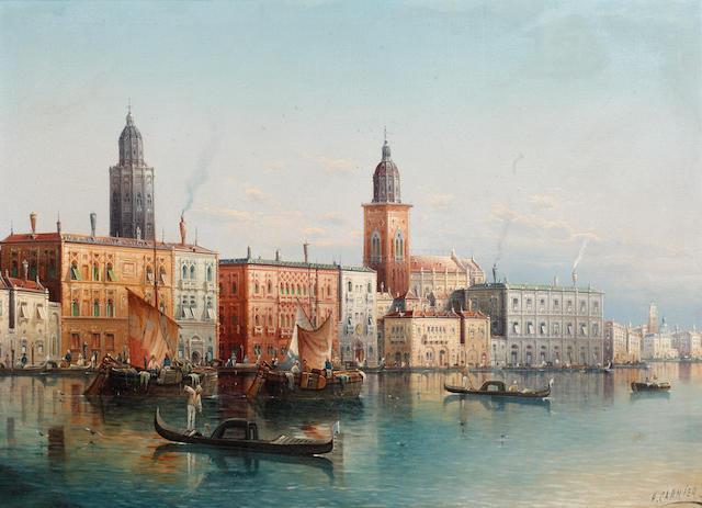Henri Carnier (British?, 1800-1868) A Venetian Scene
