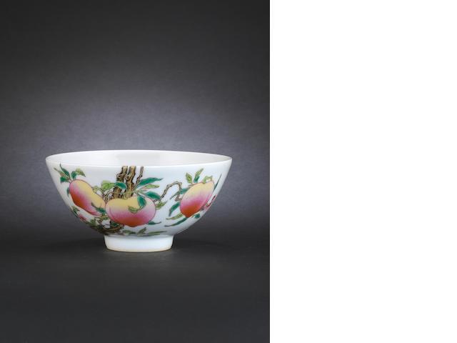 A famille rose bowl Yongzheng six-character mark