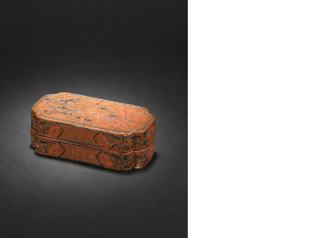 A lacquer box and cover Ming Dynasty