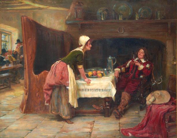John Sanderson Sanderson-Wells, RI (British, 1872-1955) Tavern scene