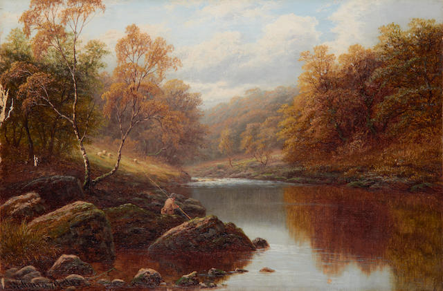 William Mellor (British, 1851-1931) 'On the Wharfe, Bolton Woods, Yorkshire'