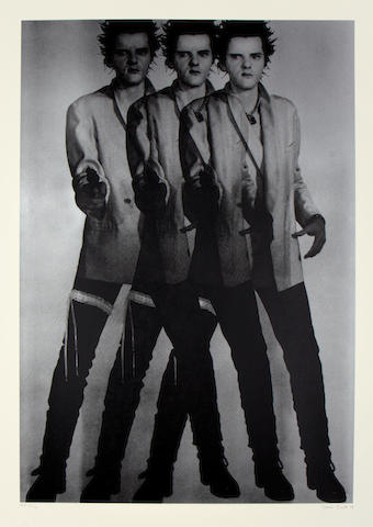 Gavin Turk (British, born 1967) Triple Pop (silver) 2 colour screenprint, signed, dated and numbered /100 in pencil, printed on Somerset Tub Sized 410 gsm paper, produced by K2, London,  1000 x 750mm (40 x 30in)(SH)(unframed)