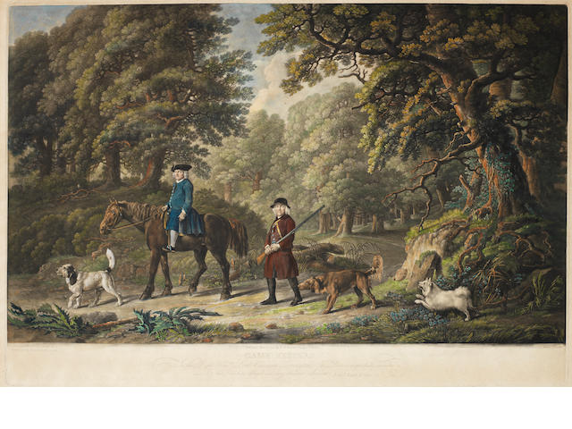 George Stubbs, ARA (Liverpool 1724-1806 London) Mezzotints, the pair, on laid, with wide margins, extensively hand coloured, published Mar. 25th, 1790, by Benjamin Beale Evans, engraved by Henry Birche. 440 x 650mm (17 1/4 x 25 1/2in)(PL)  2 unframed