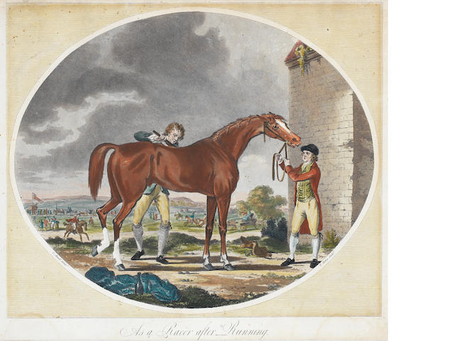 "A Collection Sporting Prints A large group of engravings, many after Alken from the ""Ideas"" series, four aquatints after Ansell by Jukes, later impressions, from ""Life of a Race Horse"", various others. collection unframed"