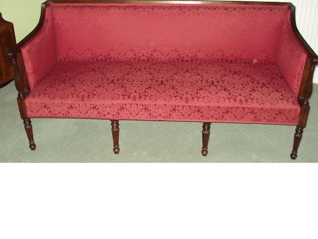 A Regency mahogany settee,