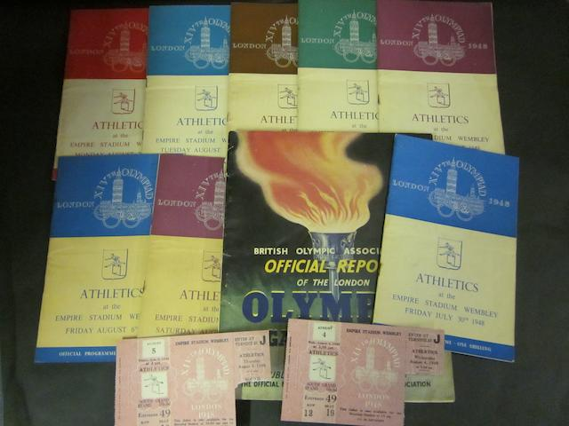 A collection of 1948 Olympic programmes