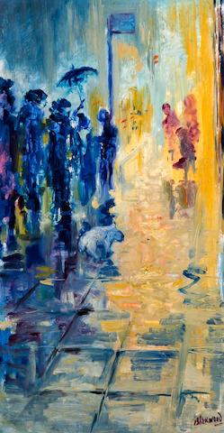 James Lawrence Isherwood (British, 1917-1988) 'Rain M/C'