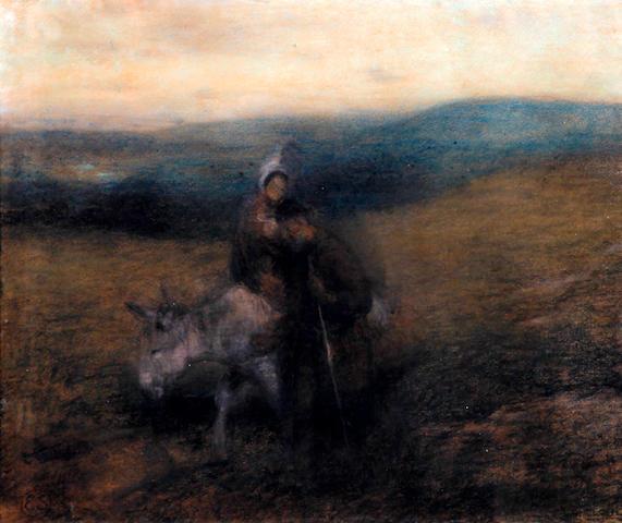 Edward Stott, ARA (British, 1859-1918) 'Flight into Egypt'