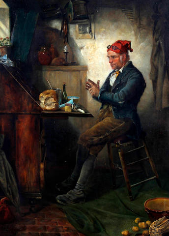 William Weekes (British, active 1864-1904) 'What have I done with that twopence'