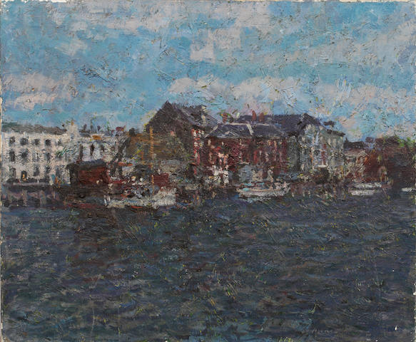 Christopher Sanders RA (British, 1905-1991) 'Poole Harbour' Unframed