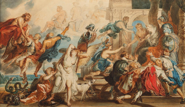 After Sir Peter Paul Rubens, 19th century English School Apotheosis of Henri IV