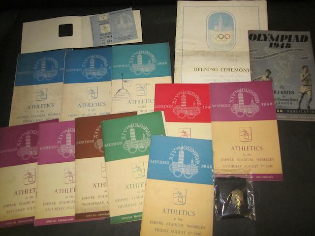 London 1948 Olympics memorabilia