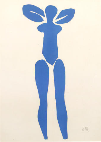 Henri Matisse (French, 1869-1954) Nu Bleu Series colour lithograph, after the 1952 cut-out, 345 x 245 mm. 3