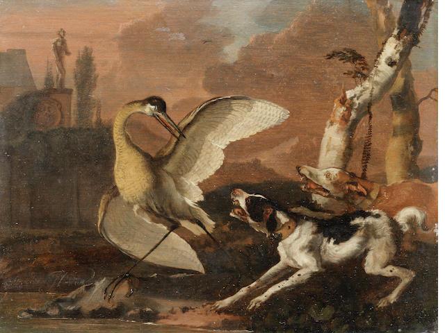 Abraham Danielsz. Hondius (Rotterdam circa 1631-1691 London) A heron hunt