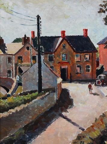 John Elwyn (British, 1916-1997) 'Landscape - Adpar'