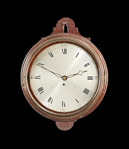 A late 18th century mahogany wall clock