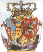 A highly important Meissen armorial beaker with the arms of Naples-Sicily and Saxony-Poland-Lithuania, circa 1737