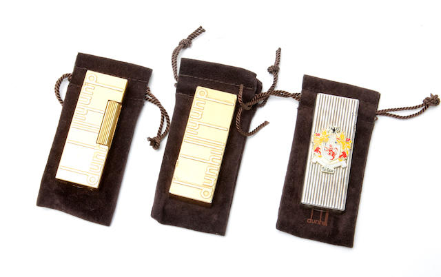 A group of three dunhill lighters