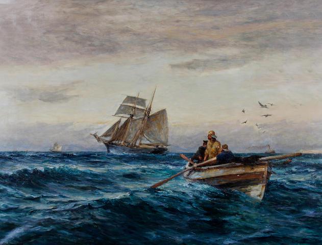 Robert Jobling (British, 1841-1923) 'Setting Her Course'