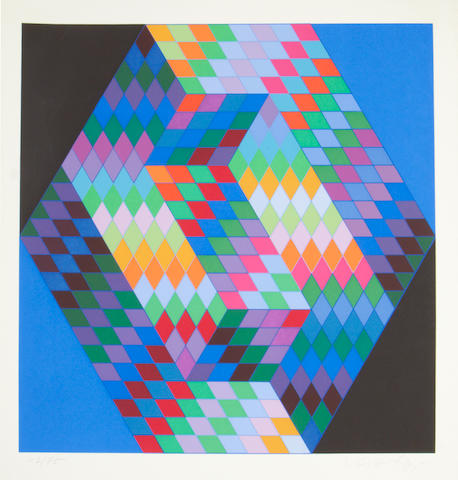 Victor Vasarely (Hungarian, 1906-1997) Untitled, 1971 Screenprint in colours, 1971, on wove, signed and numbered 43/75 in pencil, published by Editions 2RC, Rome, with margins, 631 x 451mm (24 7/8 x 17 3/4in) (SH) (unframed)