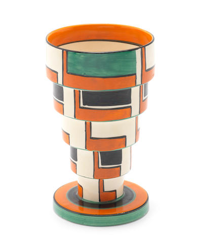 Clarice Cliff An impressive stepped vase