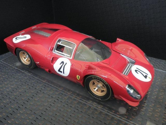 A 1:8 scale model of the 1967 Le Mans 24 Hour Ferrari 330P4, by Javan Smith,