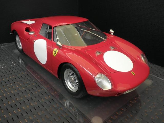 A 1:8 scale limited edition model of a 1965 Ferrari 250LM, by Javan Smith,